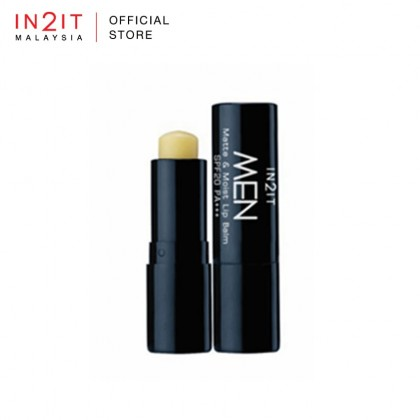 IN2IT Men Matte & Moist Lip Balm SPF20 PA++ (MLBM)